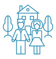 family wellbeing linear icon concept family vector image vector image