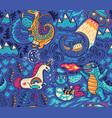 fantastic creatures animal pattern cute vector image vector image