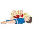 first aid resuscitation cpr using defibrillator vector image vector image