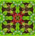 flat flower elements design flowers on green vector image