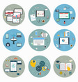 flat icons for web and mobile business strategy vector image vector image