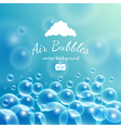 Floating bubbles Beautiful background vector image vector image