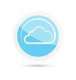 glossy round icon clouds on a blue background vector image vector image