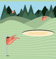 golf curse with sand trap vector image