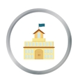 Government icon cartoon Single building icon from vector image vector image