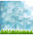 Grass Border On Natural Blue Background vector image