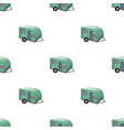 green caravan icon in cartoon style isolated on vector image vector image