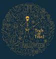 halloween dark background big hand-drawn vector image vector image