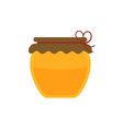 honey jar icon in flat design vector image