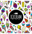 icecream background sketch for your design vector image