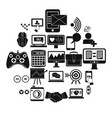 intellect icons set simple style vector image vector image