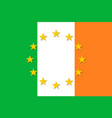 ireland national flag with a star circle of eu vector image