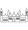 islamic building icon black and white vector image