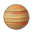 Isolated space planet design vector image vector image