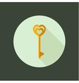key circle icon flat design vector image