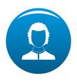 man avatar icon blue vector image