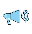megaphone sound with waves vector image vector image