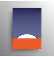 minimalist abstract flat artistic design for cover vector image