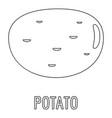 potato icon outline style vector image vector image