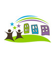 preschool logo design template vector image