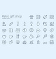 retro gift shop outline iconset vector image vector image
