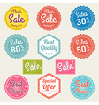 Sales promotion set in retro vector image vector image