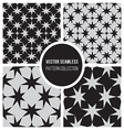 Seamless BW Geometric Star Pattern Collection vector image vector image