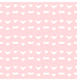 Seamless pattern cute white hearts on a pink vector image vector image