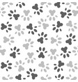 seamless pattern of paw foot print for wrapping vector image vector image