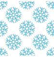 Seamless pattern with blue christmas snowflake