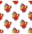 Seamless pattern with color fire cock looking at vector image vector image