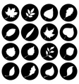 Set of round nature icons vector image vector image
