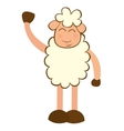 sheep cute character little vector image