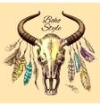 skull a bull vector image