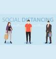 social distancing prevention covid-19 vector image