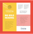 star business company poster template with place vector image vector image