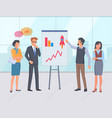 startup presentation with successful result vector image