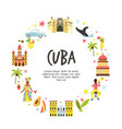 tourist poster with famous destinations vector image vector image