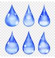 Transparent drops vector image vector image