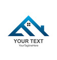 triangle house roand home logo element colored vector image vector image