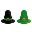 two irish hats vector image