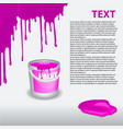violet paint dripping on the wall editable vector image vector image