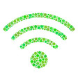 wi-fi source collage of dots vector image vector image