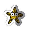yellow happy star cartoon icon vector image vector image
