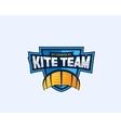 Kiteboarding Team Sport Emblem Kite Symbol on a vector image
