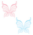 Blue and pink fairy wings vector image