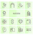 14 success icons vector image vector image