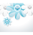 3d glass flowers vector image
