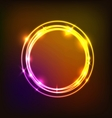Abstract background with colorful circles neon vector image vector image