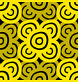 background - black yellow vector image vector image
